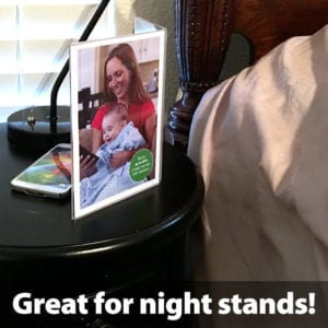 """SYB Angled Acrylic Table Top Picture Frame to Shield EMF Radiation, Holds Two 5""""x7"""" Photos"""