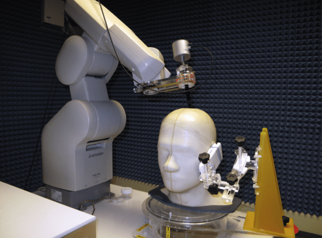 SAR dummy used to measure EMF with digital hearing aids